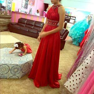 Red Sherri Hill dress